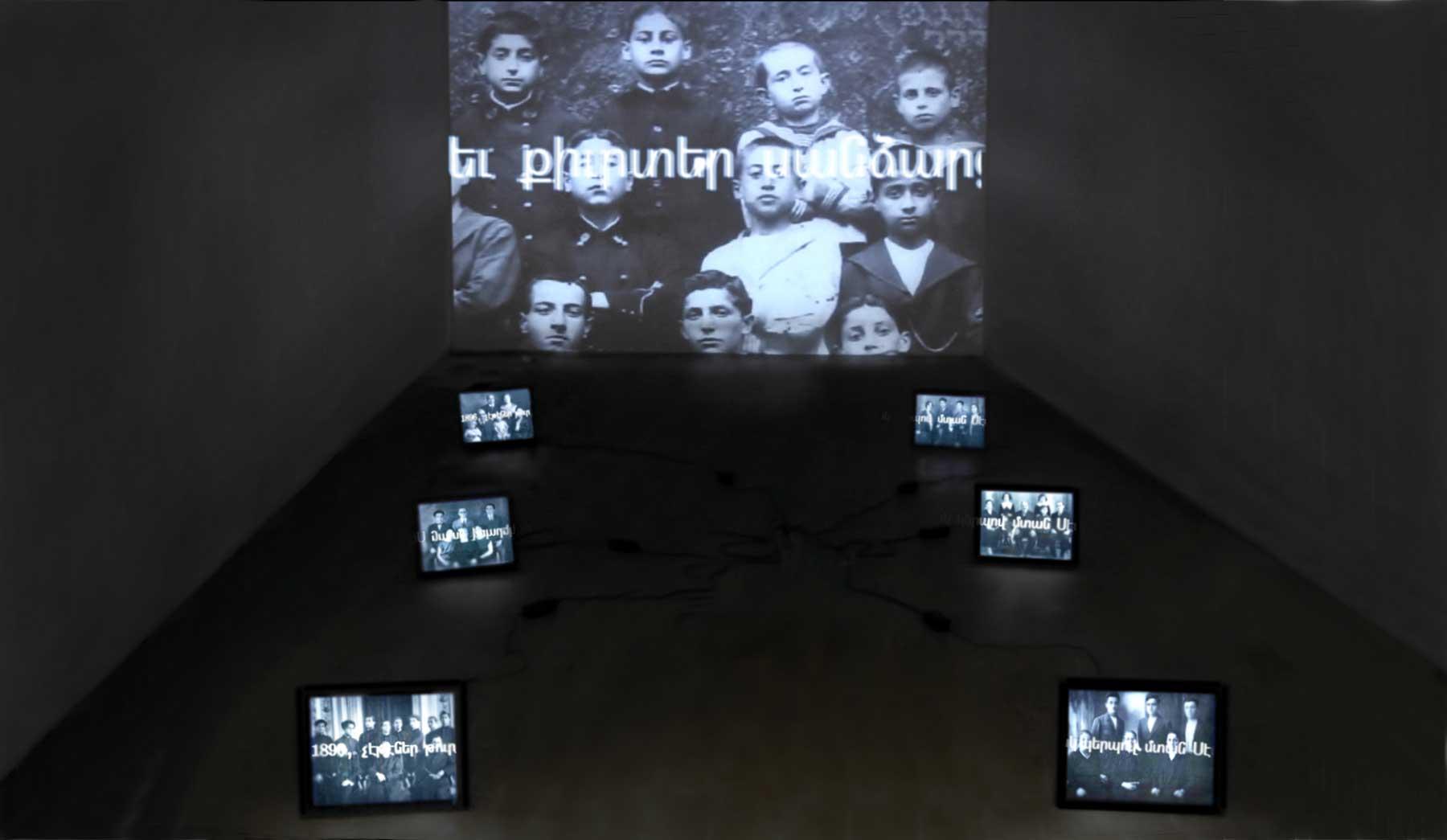 "VeraZnunt, 2008, installation view, mostra ""Hayastan-Veraznunt"", Pal. Zenobio, Venezia, 2011"
