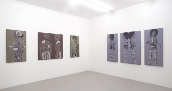 serie Steak&Steel, exibition view, 2004